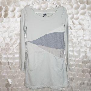 Prairie Underground Grey Pocket Sheath Dress XS